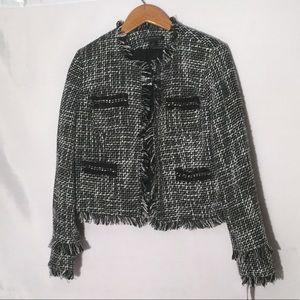 INC tweed blazer L